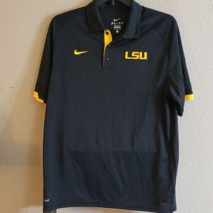 LSU Nike Dri-fit Polo Large
